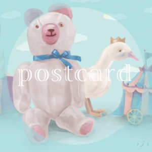 postcardクマ