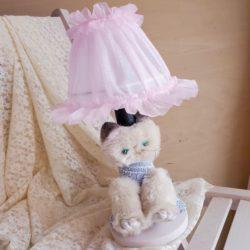 ねこブルー/シェード:薄ピンク